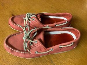 Détails sur Homme Timberland Union Wharf Chaussures bateau rouge Taille Uk6.5 EU 40 afficher le titre d'origine
