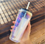 thumbnail 2 - New-Starbucks-Holiday-2020-Iridescent-Glass-18oz-Cold-Cup-Tumbler-Straw