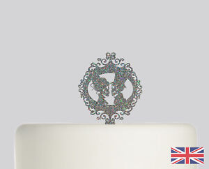 Details About Bride Groom Gothic Wedding Cake Topper Acrylic Glitter Decoration 645