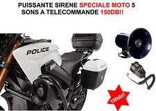 SPECIAL QUAD ATV BUGGY SURPERBE ENORME SIRENE 12V 100W 145db 5 SONS + MEGAPHONE