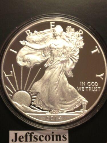 2014 W Proof AMERICAN EAGLE SILVER DOLLAR West Point US MINT Gift BOX 1 oz .999