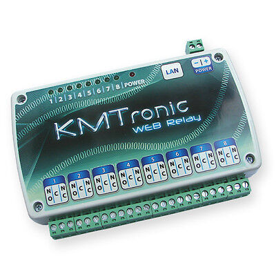 KMTronic LAN IP 8 Canaux Relais Carte Internet Ethernet Module WEB BOX