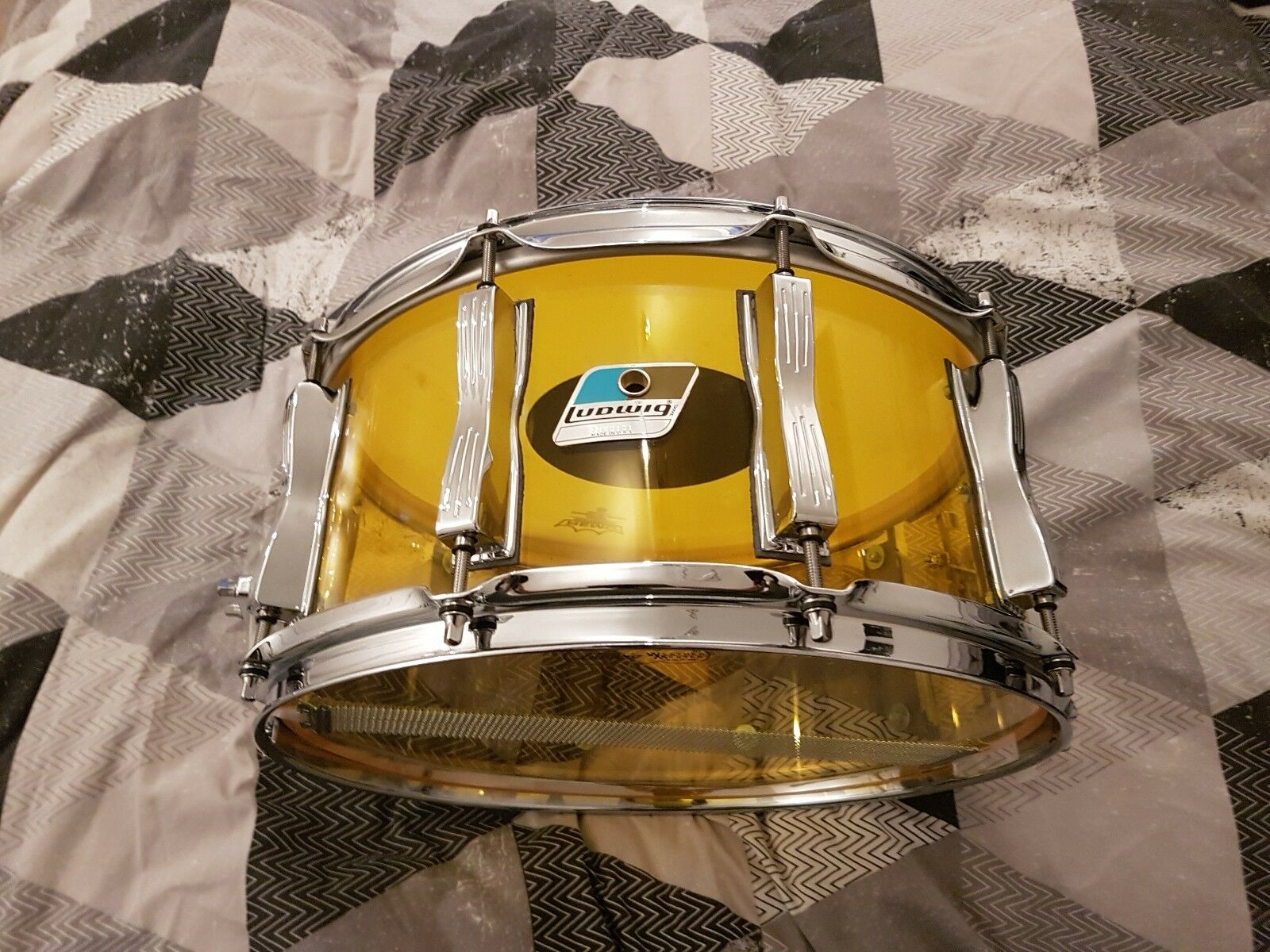 Ludwig Vistalite Gelb 14 x6.5  acrylic Snare Drum