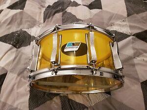 """Ludwig Vistalite Jaune 14""""x6.5"""" Acrylique Snare Drum-afficher Le Titre D'origine"""
