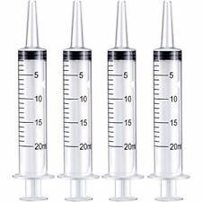 Frienda 4 Pack Large Plastic Syringe For Scientific Labs And Dispensing Multiple