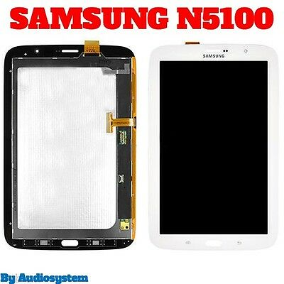 "DISPLAY LCD +VETRO+ TOUCH SCREEN per SAMSUNG GALAXY NOTE 8.0 GT N5100 8"" 3G+WIFI"