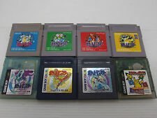 Nintendo Game Boy Pokemon Pocket Monsters Lot of 8 Japan Version GBC GB GBA
