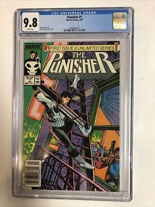 Punisher (1987) #1 (CGC 9.8 WP) Rarer Newsstand Edition