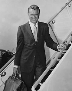 CARY-GRANT-PHOTO-handsome-boarding-plane-photograph
