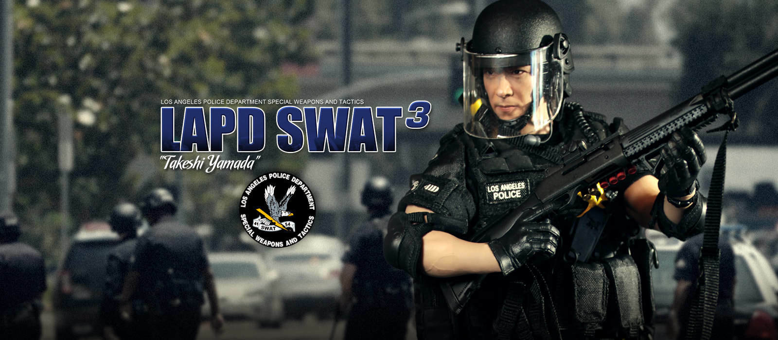 Did action police figure 1 6 12'' lapd swat takeshi boxed dragon hot toys modern