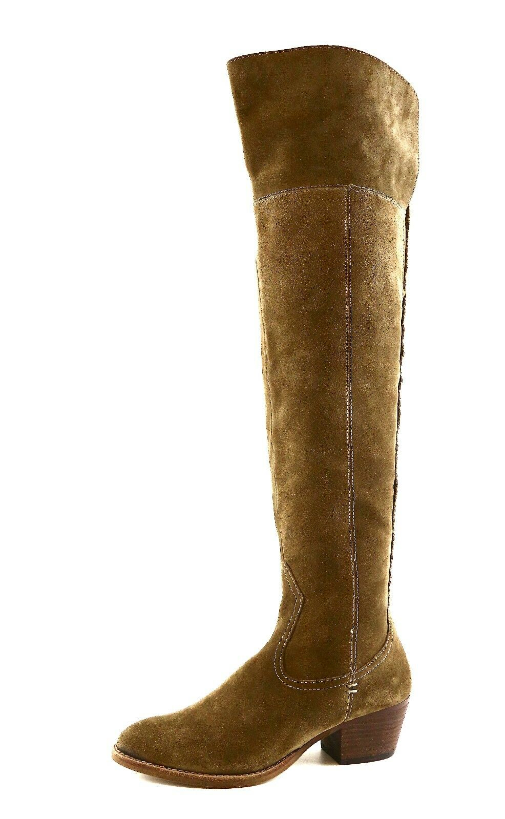 Dolce Vita Silas Over Knee Suede Boot Brown Donna Sz 7 5818 *