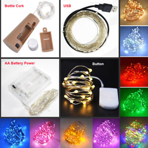 20-30-100-LED-Fairy-String-Battery-USB-Micro-Rice-Wire-Lights-Party-Xmas-Decor