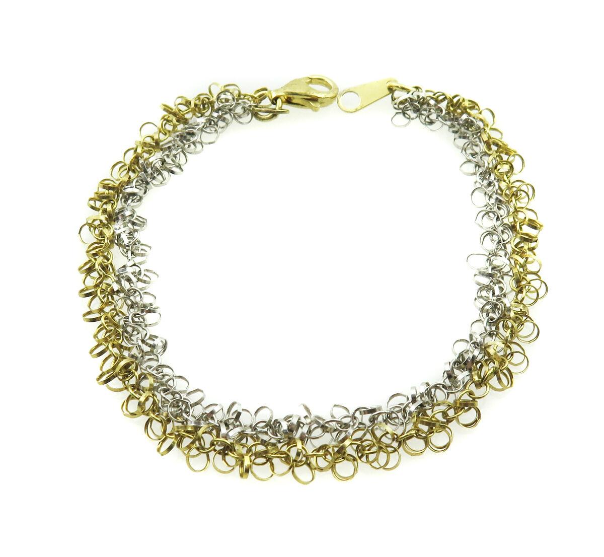 14k Two Tone gold Women's Bracelet