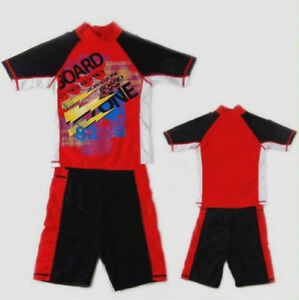 Boys-Child-Rash-Suit-Rash-Top-Trunks-Rashi-SET-Bathers-Swimsuits-Swimwear-Sz8-14