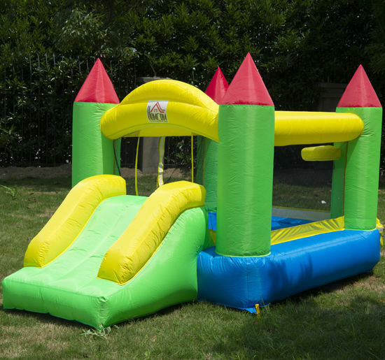 Inflatable Water Slide Pool Bouncy Castle: 6ft Bounce House Inflatable Kids Jumper Jump Bouncy Castle