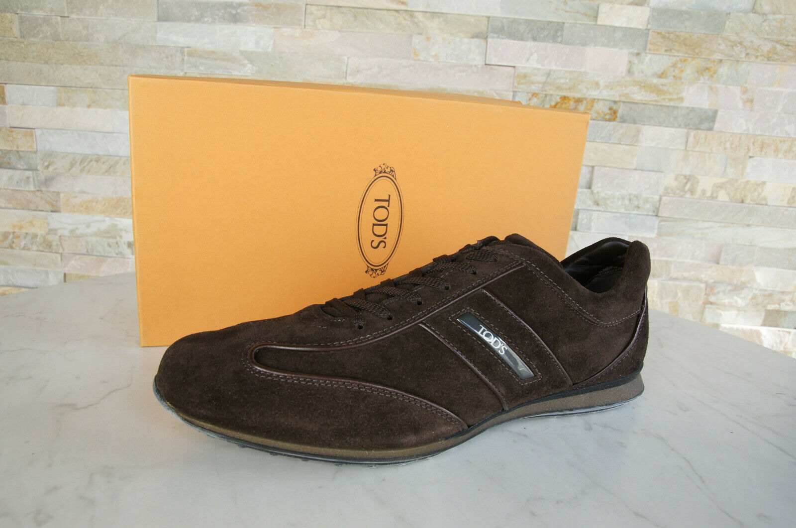TOD`S Tods Size 45 11 Sneakers Lace up shoes Dark Brown New Previously