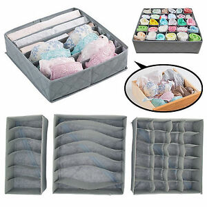 3-x-Foldable-Underwear-Bra-Fabric-Socks-Box-Storage-Organiser-Drawer-Dividers-UK