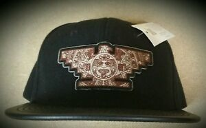 a6319173fff Mens Chicano Lowrider Hat Aztec Bird Custom Design snapback Brown ...