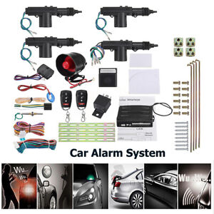 Car-Auto-Security-Alarm-System-Keyless-Entry-4-Door-Power-Lock-Actuator-Motor