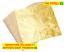 FOGLIO-ORO-FOGLIE-PER-DECORAZIONE-BRICOLAGE-FOGLI-FOGLIA-DORATA-ARTIGIANATO miniatura 1
