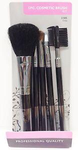 blossom cosmetic 5 piece cosmetic brush kit powder brush