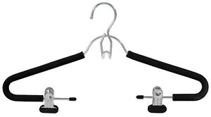 Closet-Spice-Chrome-Suit-Hanger-with-Clips-Non-Slip-Set-of-6-Black