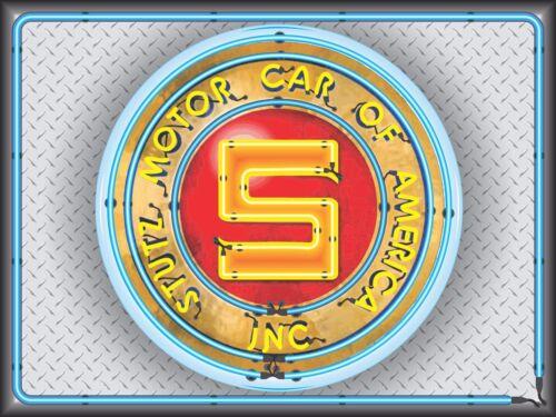 STUTZ MOTOR CAR OF AMERICA DEALER NEON STYLE BANNER SIGN GARAGE ART 4/' X 3/'