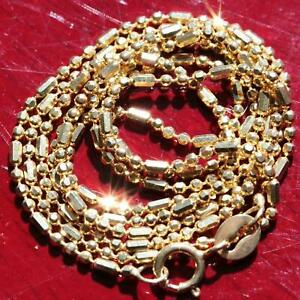 10k-yellow-gold-faceted-bead-link-necklace-20-0-034-chain-vintage-handmade-2-3gr