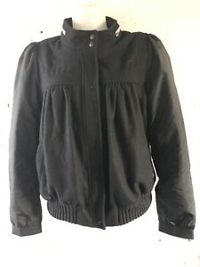 Adidas-Originals-A-039-Women-s-Bomber-Jacket-Size-Black-Varsity-Jacket
