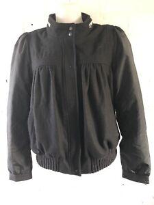 Adidas-Originals-A-039-Wom-Bomber-Jacket-Talla-Negro-Chaqueta-Universitaria-con-etiquetas
