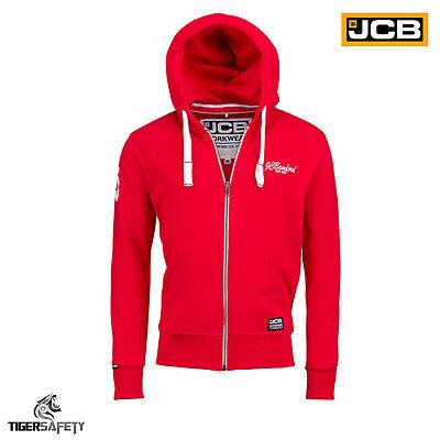 Clever Jcb Bamford Ltd Edition Red Hooded Top Hoodie Sweatshirt Workwear Work Top Hoody GläNzend