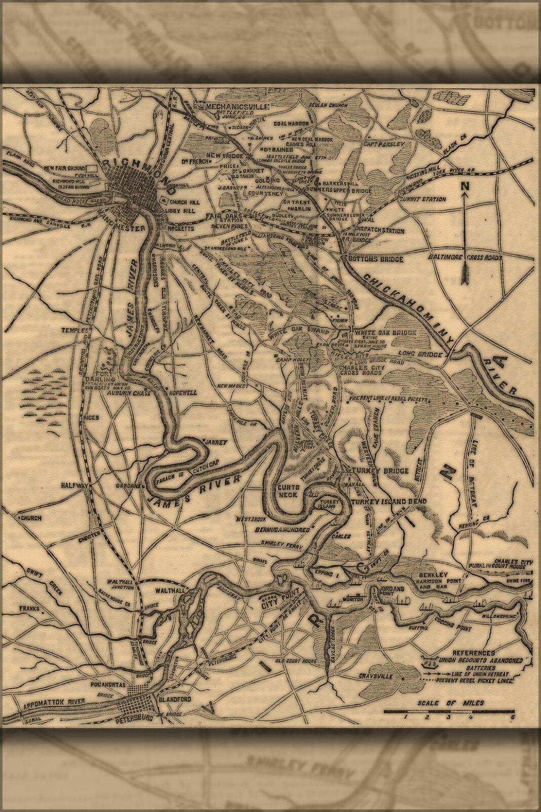 Plakat, Viele Größen; Bürgerkrieg KKunste von Richmond Virginia Bereich