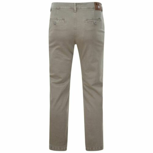 KAM Mens Big Size Stretch Modern Fit Chino Trousers