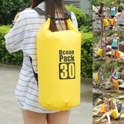 30L PVC Waterproof Dry Bag Sack for Canoe Floating Boating Kayaking Camping NEW