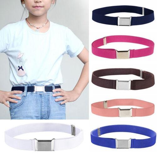 Child Kids Waist Belt Elastic Adjustable Waistband Buckle Canvas Belt Supplies