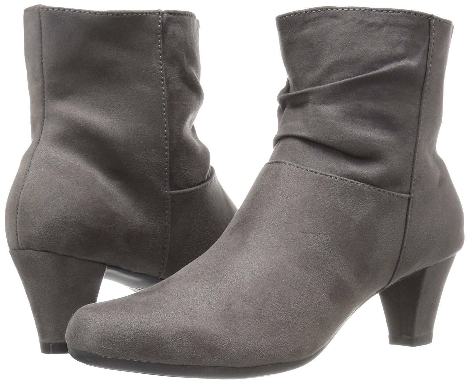 9.5M Aerosoles Womens Shore Fit Grey Closed Toe Ankle Fashion Boots