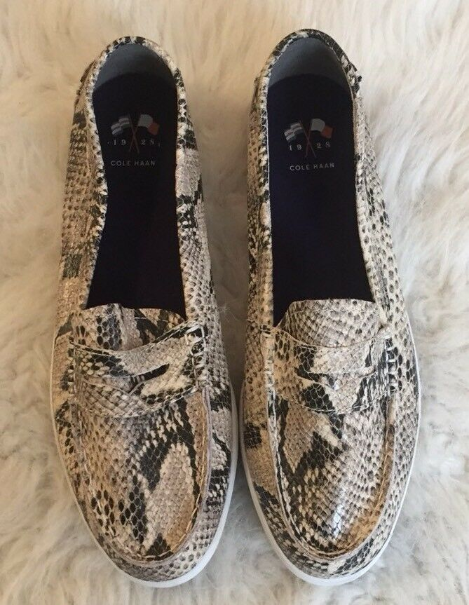 Cole Haan Snake Print Loafers Slip On Schuhes Driving Damens's 9 Größe 9 Damens's 8b0e7c