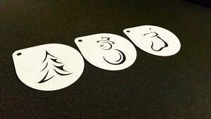 1-1-Set-of-3pcs-Christmas-Stencils-Airbrush-Tree-Snowman-Sock-Cake-Spray-Snow