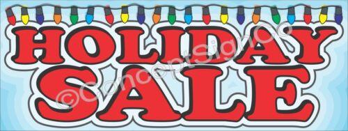1.5/'X4/' HOLIDAY SALE BANNER Outdoor Sign Christmas Season Retail Sales Xmas