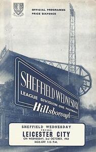 Football-Programme-Sheffield-Wednesday-v-Leicester-City-Div-1-2-10-1963