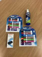 Lot Of 2 Expo Dry Erase Markers Bullet Tip Amp Expo Spray Amp White Board Eraser