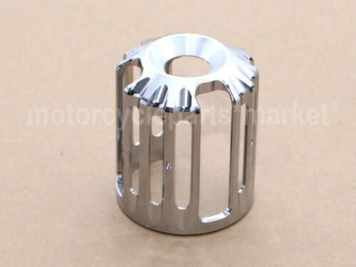 Chrome Aluminum Oil Filter Cover Cap Trim For Harley Touring Glide Softail Dyna