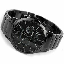 Authentic Emporio Armani AR2453, Full Black Steel Men's Chronograph Watch
