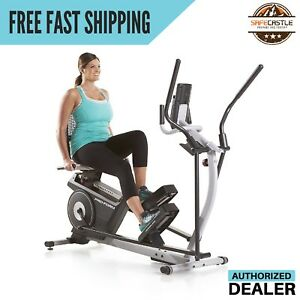 ProForm Hybrid Trainer Elliptical Recumbent Cardio Bike Exercise Machine Workout