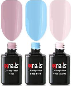 UV Nagellack Set - Light Colours 12ml / UV LED Lack Gel Polish Nails Made in Ger
