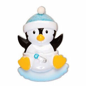 image is loading personalized baby boy penguin baby boy 039 s - Baby Boy First Christmas Ornament