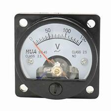 Baomain Analog Dial Panel Meter Voltmeter Gauge So 45 Ac 0 150v Round Black