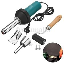 1080W Plastic Hot Air Welding Gun Torch Welder Pistal Tools Kit +Nozzle + Roller