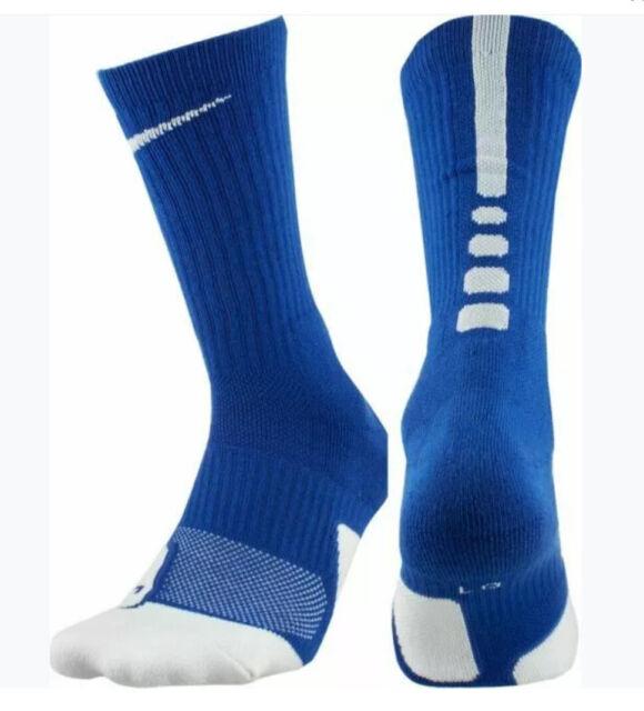 Nike Elite Cushioned Crew Basketball Socks Mens XL 12-15 Blue Sx5593 480