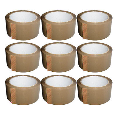 Brown Tape STRONG Parcel Tape Packing sellotape Packaging 48mm x 66m Discount